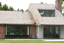 Project: Colt House / House renovation and double height extension in Suffolk using slim framed sliding glass doors and frameless structural glass for a contemporary design.