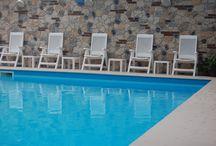 Hotel Rio - la piscina - the pool - der Pool / #finaleligure La piscina dell'Hotel Rio può essere aperta e coperta in 2 minuti! The Hotel Rio Pool opens and closes in 2 minutes. Der Hotel Rio Pool geöffnet werden kann und bedeckt in 2 Minuten.