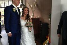 Onze bruid Denise / Foto's van de zelf ontworpen bruidsjurk van onze lieve bruid Denise die inmiddels getrouwd is met haar grote liefde Mike ❤️  Voor het betaalbaar ontwerpen & laten maken van jouw droomjurk, mail ons op info@weirdcloset.nl