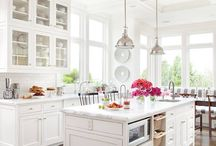 Happy Kitchens / Modern kitchen design, renovations, slab countertops, sustainable kitchen design.  / by Heather Truhan
