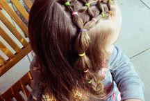 coiffure facile fillette mi long