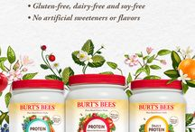 Burt's Bees Protein Shakes / Drink in the best nature has to offer with Burt's Bees Protein Shakes. Our three holistic protein powders provide a range of benefits, are made from organic ingredients, are non-GMO, gluten-free, soy-free and dairy-free.