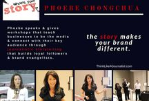 Phoebe Speaks / I speak and give workshops on journalistic storytelling to help you connect with your key audience and build brand evangelists. I also do TV Host work, MC events, and commercials.