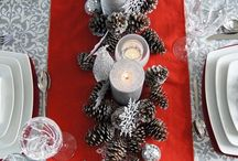 décorations de table de Noël