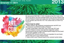 PANTONE Color of the Year 2013 and Art.com Pinterest Contest  / by Heta Shah