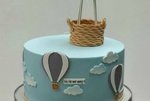 hot air balloon christening decoration ideas