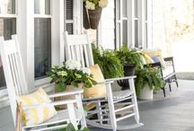 {home} porch love / Design inspiration for your front porch for every season!