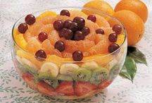 Salads Galore! / Whether it's a Fruit Salad, Green Salad, etc, throw things together and Taah Daah! Yummy Goodness!