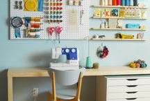 Sewing Spaces / by Kelsey Creates