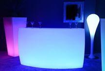 Bar Lumineux à LED multicolores - KruG Round / Bar Lumineux à LED multicolores - KruG Round http://www.livedeco.com/ledcolor-mobilier-lumineux/bar-lumineux/