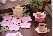 flower tea coasters