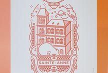 Illustrations Sérigraphie Linogravure...