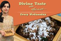 Divine Taste with Anushruti / Rajshri Food bring you a pleasant surprise in the form of our new show with chef Anushruti.An ardent blogger, photographer & food enthusiast, Anushruti will bring Vegetarian recipes based on Ayurvedic and Sattvic principles. So, don't forget to catch Divine Taste with Anushruti every Wednesday only on Rajshri Food. http://www.youtube.com/user/rajshrifood / by Rajshri Food