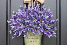 Lavender on the door