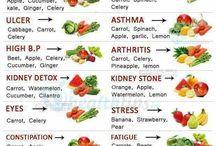 Healthy fruit n verge juices