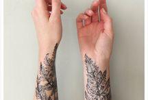 Leaf tattoos
