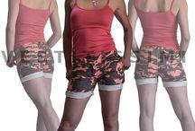 Pantaloncini mimetici donna stile jeans