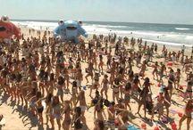 Israeli beach scene