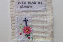 M Stevens artist hand stitch brooch