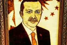 Recep Tayyip Erdogan Ahşap yakma resmi
