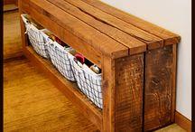 Home improvement / Hallway bench storage