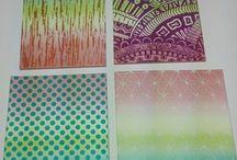 My silk screens stencils :)