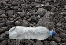 plastic bottles / everywhere in the world you find them: empty  plastic bottles