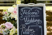 Wedding-welcome tabel decor idea