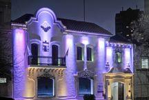 Edificios de Córdoba iluminados / La ciudad de Córdoba se emellece con un sistema de iluminación digital en los principales edificios culturales e institucionales de la ciudad de Córdoba.