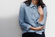 How to style: denim shirt//chambray / by Jessica