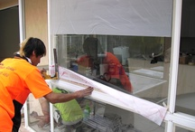 At Work / These are pictures taken onsite while we are working window restoration client requests.