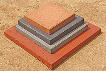 """16"""" Concrete Patio Stones / These are very popular for patios, stepping stones, and a mix of other creative projects.   The pavers are 16"""" x 16"""" x 2""""  and weigh 37 lbs a piece.  St Vrain Block is located at 5150 Grand View Blvd. Dacono, CO. 80514.  303-833-4144"""