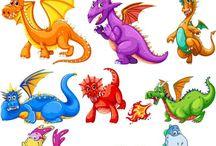 динозавры. драконы