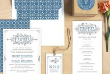 Our Printed Wedding Invitations and Matching Paper Goods / Coordinate your entire wedding with these matching gift tags, programs, table numbers and labels! / by Elli