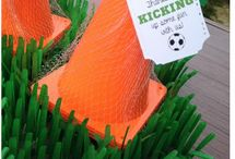 Soccer Party Ideas / Ideas related to hosting a soccer themed party for children.
