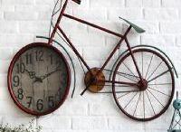 Bisiklet / Saat, Resim çerçevesi, Bardak ve biblo modellerinde dekoratif bisikletler.