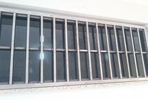 """Grade de segurança para janela / Execução de um projeto de uma grade de segurança de janela - Medidas: L1500mm / H600mm - Materiais: Tubo quadrado 30x30mm e 15x15mm parede 1,2mm / cantoneira serralheiro e 2""""x1/8"""" - Fixação: Soldagem das partes pelo processo MIG"""