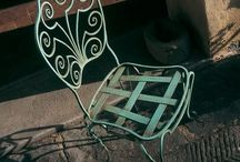 Wrought iron sitting / Different type of chairs, armchairs and sofas in wrought iron