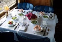 Dinner, Dessert, & Picnic Trains / The Boone & Scenic Valley Railroad's dinner, dessert, and picnic trains offer passengers the opportunity to ride through the beautiful Des Moines River Valley in climate controlled comfort aboard historic 1950's dining cars.  The Boone & Scenic Valley Railroad is a division of the Iowa Railroad Historical Society, a non-profit, operating railway museum.