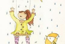 Illustration rain / by Ingrid Brugge
