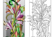 Stained Glass Floral