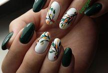 Green Nails | Olive Nails | Lime Green Nail Designs