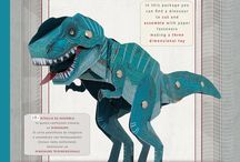 Dinosaurs toys and craft kits