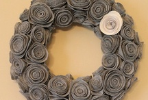 Felt flower wreath, headband