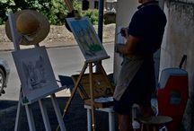 Les peintres dans la ville