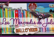 Spécial Halloween / Livres, activités, bricolages, jeux... sur le thème d'Halloween -> http://lesmercredisdejulie.blogspot.fr/