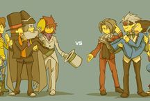 Ace Attorney and Professor Layton