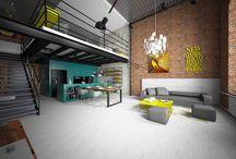 Wnętrze loftu - industrial / Tema Architekci - nasze projekty - loft