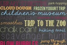 Summer Bucket List / Things to do this summer with the kiddos