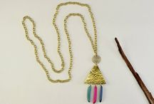 Long boho necklaces / Long boho pendant necklaces with colorful eco tagua nut from the amazon. All of these necklaces are handmade and adjustable to any length